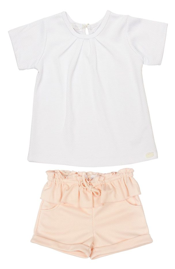 Kardashian Kids Top & Peplum Shorts