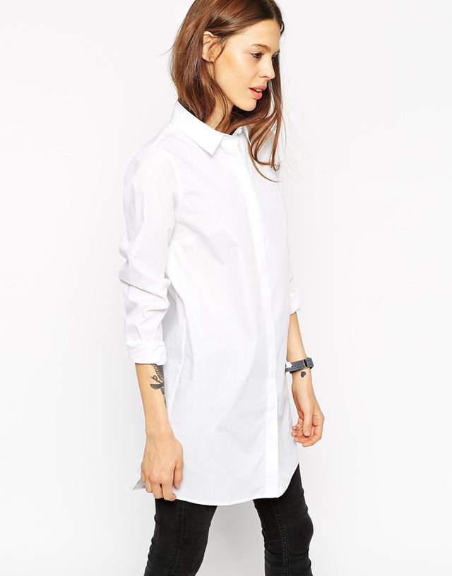ASOS Longline White Shirt