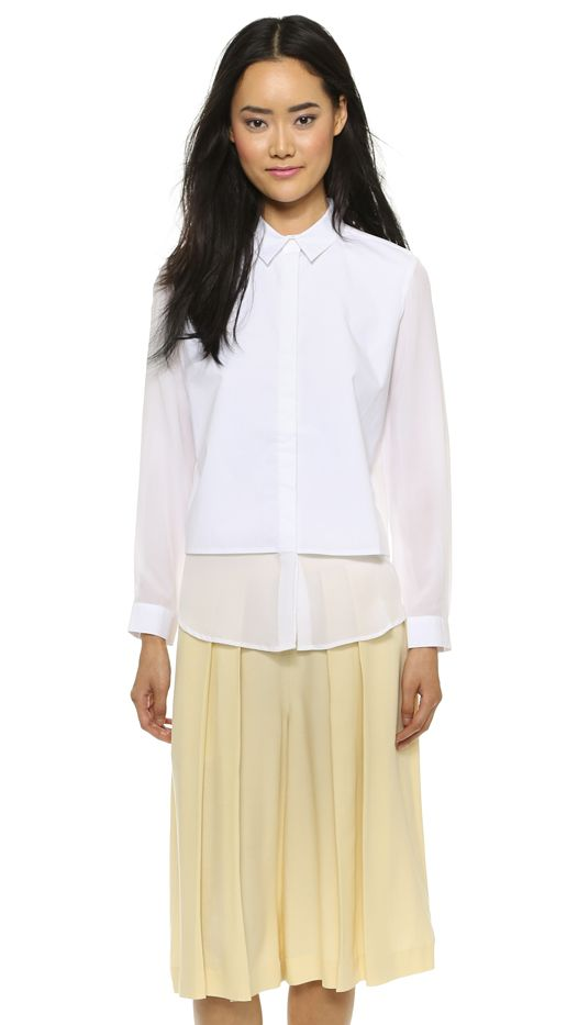 Club Monaco Prudence Silk Shirt