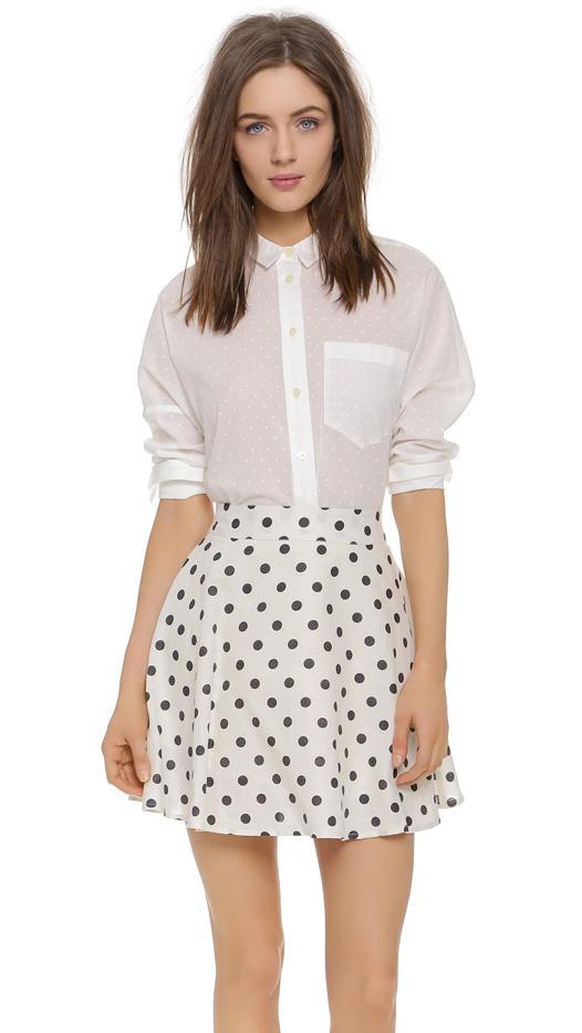 Madewell Clip Dot Messenger Shirt