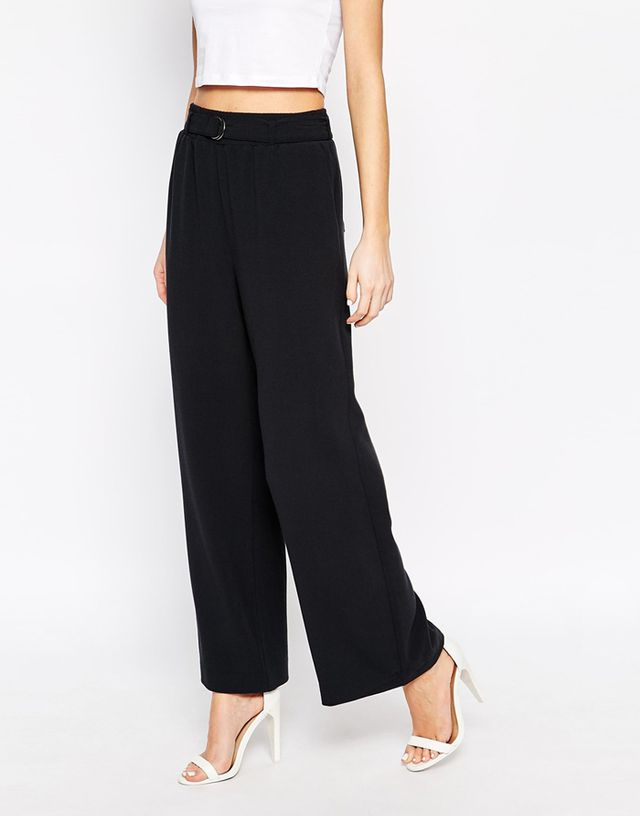 Selected Wide Leg Pants with D-Ring