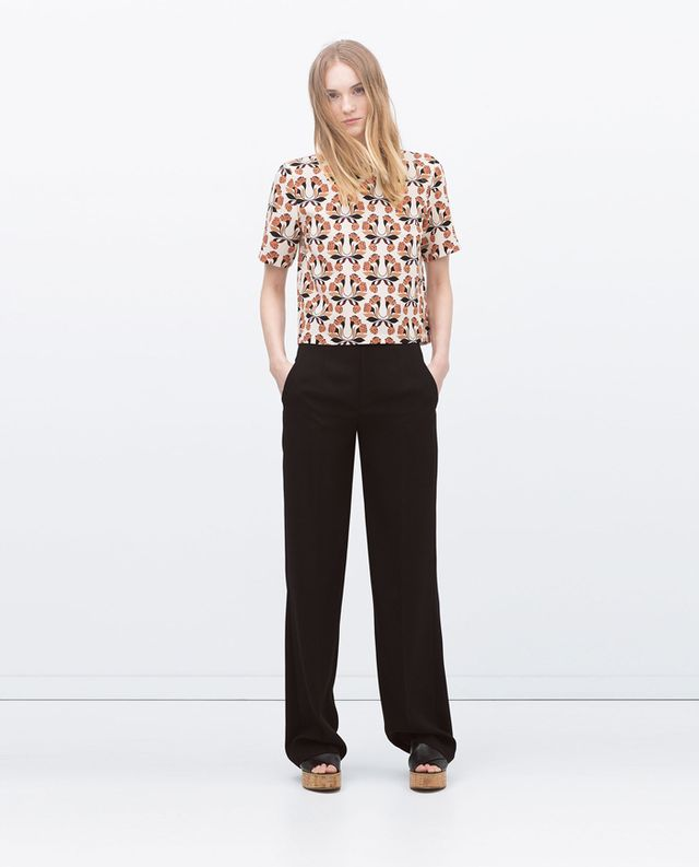 Zara High Waist Loose Trousers