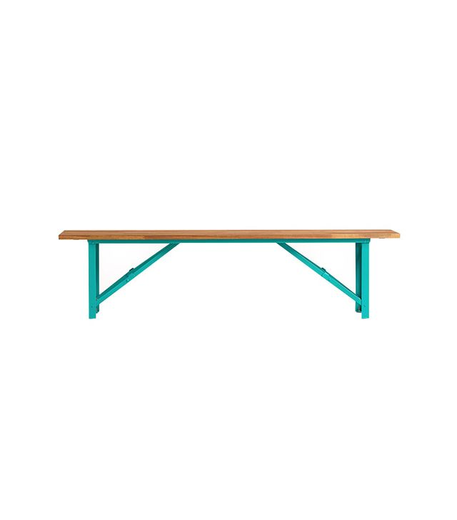 World Market  Blue Beer Garden Dining Bench