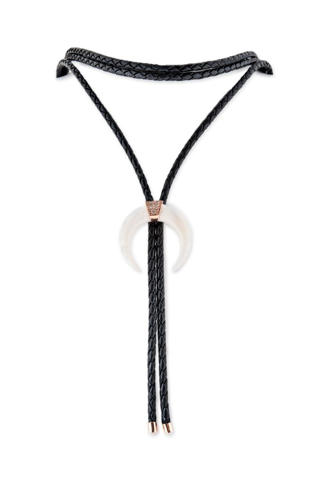 Jacquie Aiche x For Love & Lemons Double Horn Bolo Tie Necklace