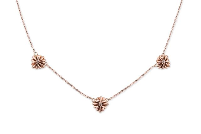 Jacquie Aiche x For Love & Lemons Triple Flower Necklace
