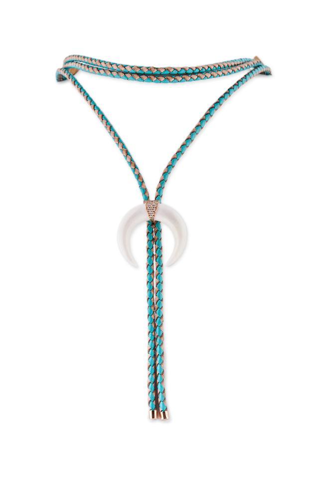 Jacquie Aiche x For Love & Lemons Double Horn Bolo Tie Necklace