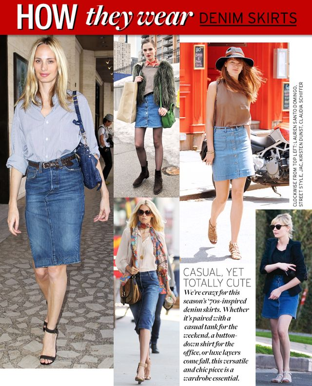 Denim Skirts | WhoWhatWear
