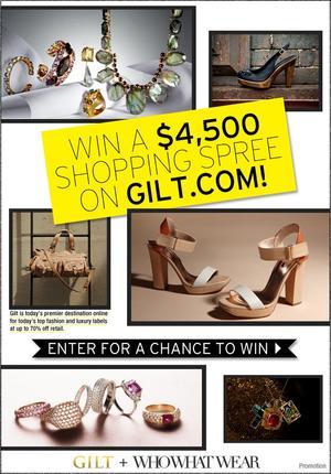 Win a $4500 Shopping Spree on Gilt.com!