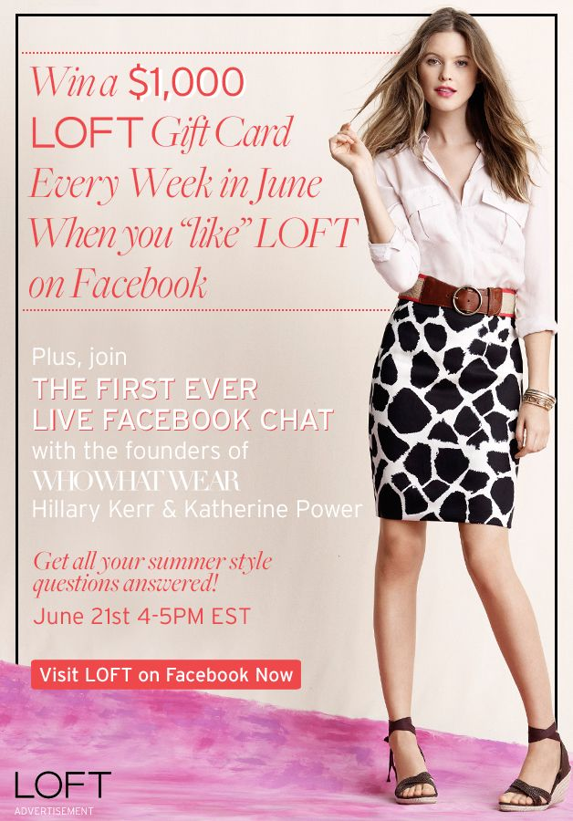 Summer Wardrobe Sweepstakes with LOFT + Who What Wear