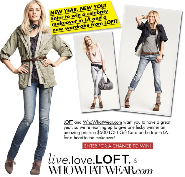WhoWhatWear.com and LOFT New Year, New You Sweepstakes!