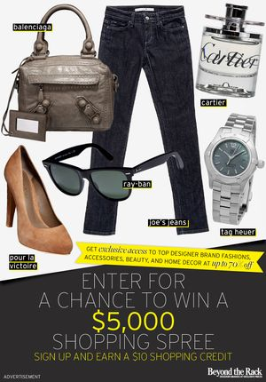 Win a $5000 Shopping Spree from Beyond The Rack