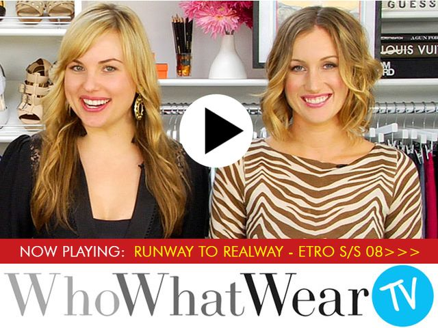 Runway to Real Way Fashion - Etro