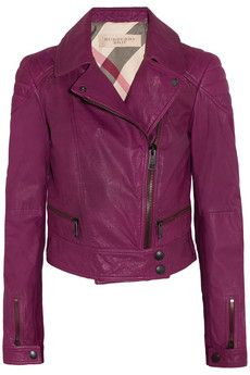 Burberry Brit  Leather Biker Jacket