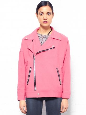 Glassworks  Pink Oversized Biker Jacket