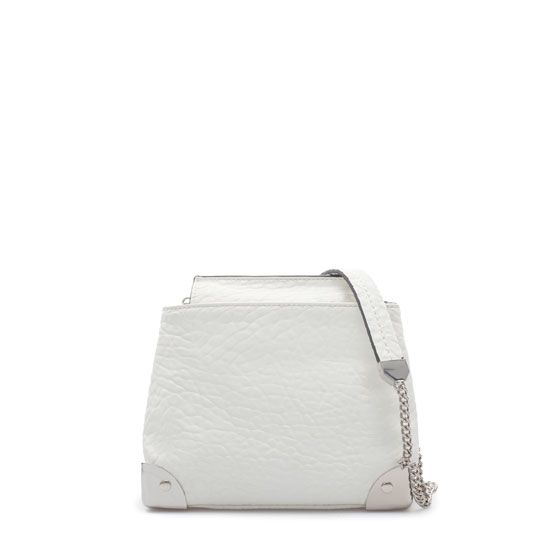 Zara  Messenger Bag with Metallic Details