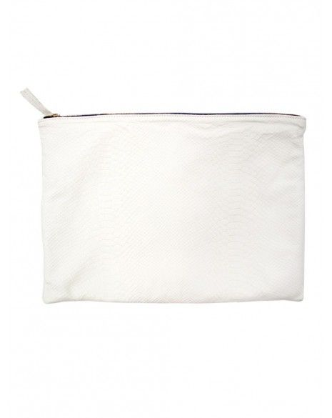 Clare Vivier  Oversized White Clutch