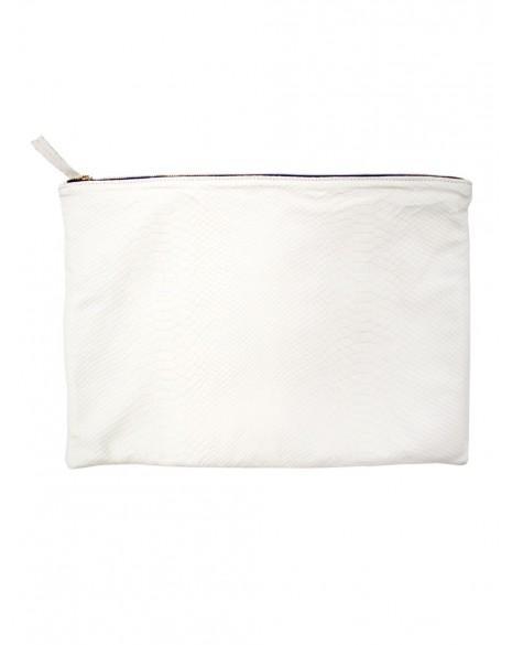 Clare Vivier  Oversized White Clutch