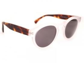 Illesteva Leonard Matte Clear Havana Sunglasses