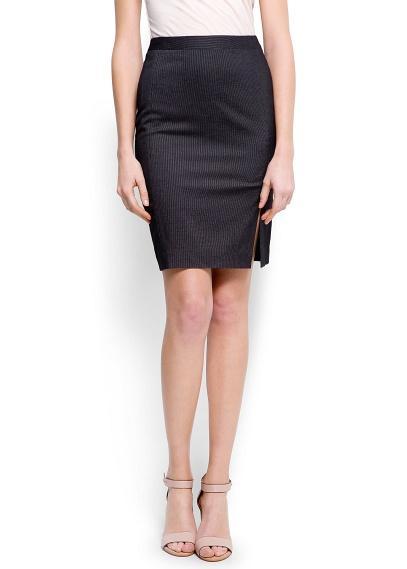 Mango  Pinstripes Skirt