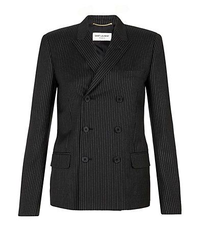 Saint Laurent  Pinstripe Double-Breasted Jacket