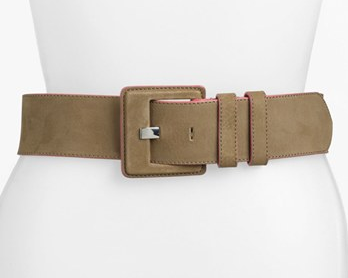 Lafayette 148 New York Contrast Edge Leather Belt