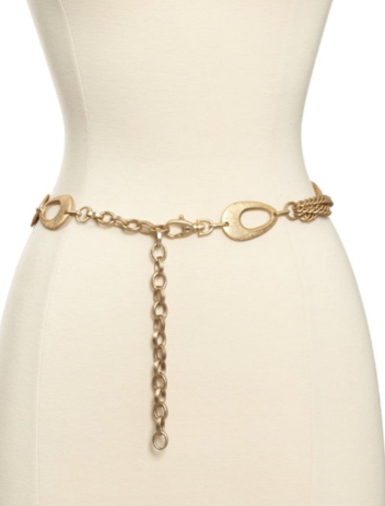 Streets Ahead Brushed Gold Chain Belt