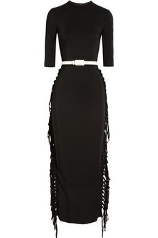 Alessandra Rich Fringed Crepe Gown