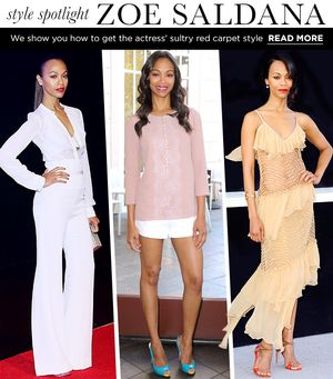 Get Zoe Saldana's Smokin' Hot Red Carpet Style