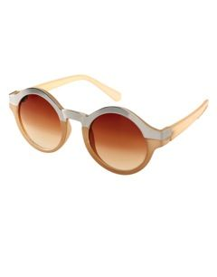 ASOS Metal Top Keyhole Round Sunglasses