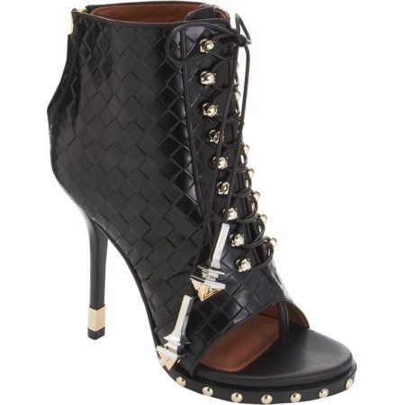 Givenchy Woven Lace-Up Ankle Boots