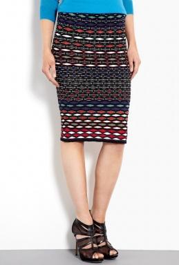 M Missoni  Diamond Knit Tube Skirt