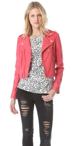 Pierre Balmain Stud Leather Jacket