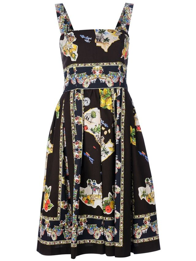 Dolce & Gabbana  Printed Sleeveless Dress