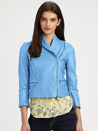 Alice + Olivia  Paradise Cropped Leather Jacket