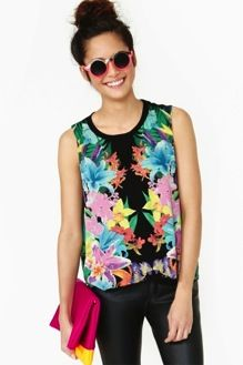 Nasty Gal Nasty Gal Paradise City Muscle T-Shirt