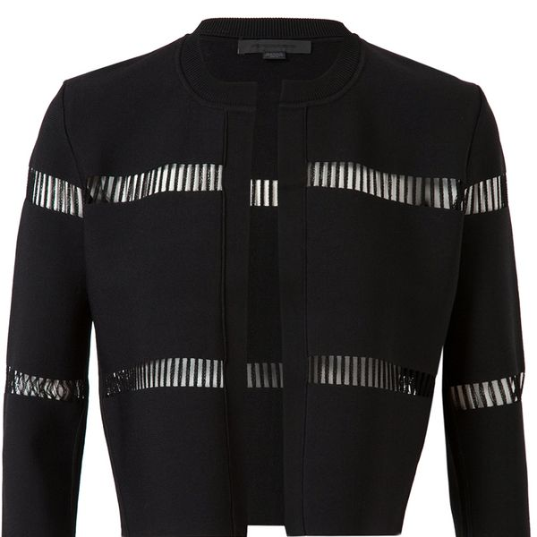 Alexander Wang Cropped Cut Out Cardigan