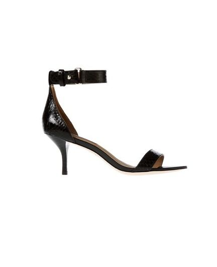 Ann Taylor  Mara Exotic Leather Kitten Heel Sandals