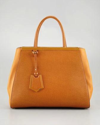 Fendi  2Jours Calfskin Tote Bag