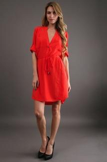 Zoa  Rolled Up Sleeve Shirt Dress