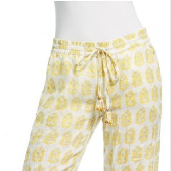 Calypso Dolana Hand Block Printed Linen Pants