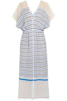 Lemlem Dehna Striped Cotton-Blend Voile Dress