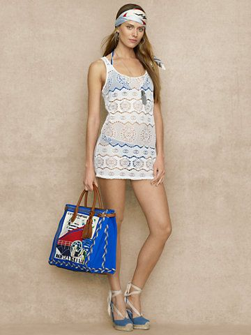 Ralph Lauren Blue Label Crocheted Tank Dress