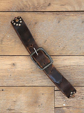 Free People Vintage Studded Distressed Leather Belt