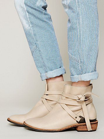 Free People Blazer Wrap Ankle Boots