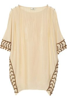 Day Birger et Mikkelsen Day Athena Embellished Crepe De Chine Tunic