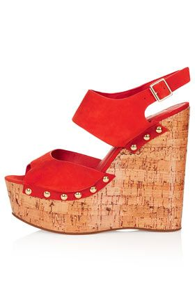 Topshop Wipeout 2 Part Cork Wedges