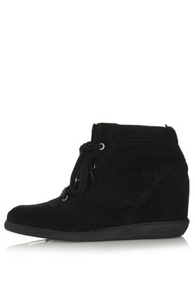 Topshop Acid Concealed Wedge Trainers
