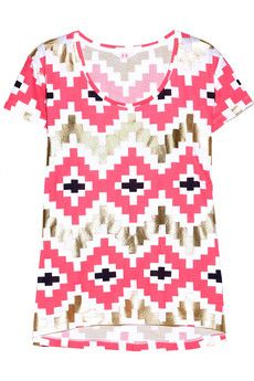 Sass & Bide The Print Run Neon Printed Cotton T-Shirt