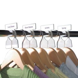 Simple Divison Closet Rod Organisers