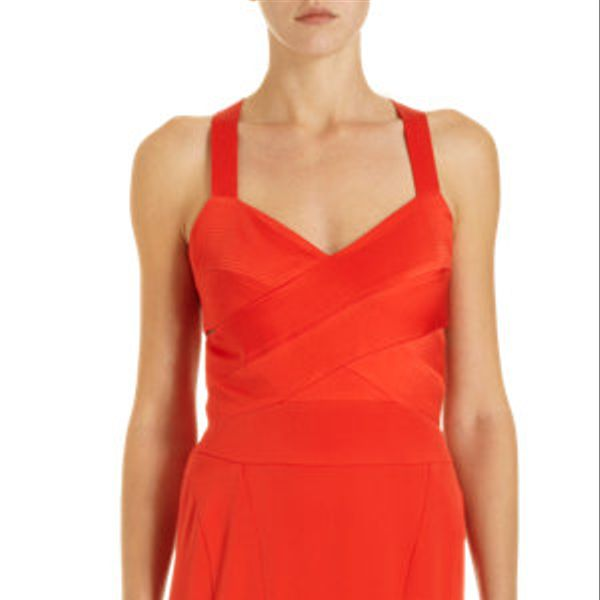 Narciso Rodriguez Strappy Cut-Out Back Gown